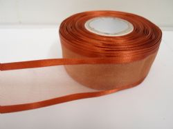 Copper Gold satin edged organza ribbon, 2 or 25 metres, Double sided, 10mm, 15mm, 25mm, 40mm, 70mm
